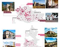 Edificios históricos dañados por los sismos en México