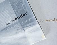 To wander - Books