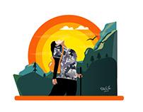 Inspirational Hill Trekking