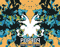 Pop CD cover with Rorschach theme