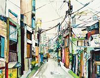 Narrow Tokyo street
