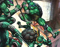 COWABUNGA! Making a TMNT cover for IDW