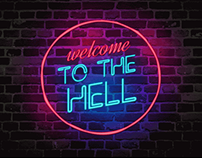 Hell text animation