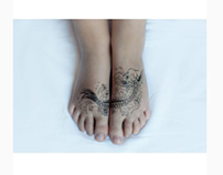 Temporary Tattoo - drawing on skin