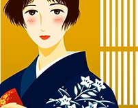 Female Illustration - Japanese Traditional Style