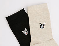 Kitty-Puppy Sock Set for Bershka_ AW16·17