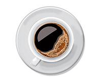 black coffee cup vector