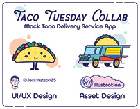 Taco Tuesday Mock Delivery App. Collab