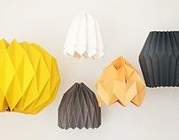 Paper origami lampshades // Handcraft