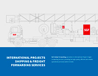 Landing page transport company
