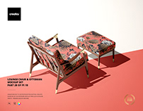 Lounge Chair & Ottoman Mockup Set