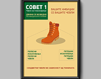 Hiking Info-Poster About Hiking Boots