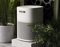 Parametric air purifier from leaves