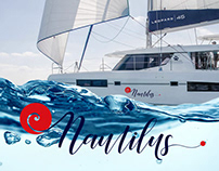 Yacht branding for a Leopard 45. Nautilus.