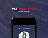 Mobile app design for call recording application