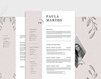 FLORAL Resume/CV + Cover Letter + Title