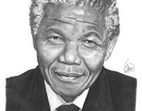 Nelson Mandela and Mother Teresa portraits