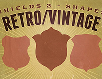 Free Retro & Vintage Shapes - Shields 2