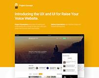 Raise your voice - Responsive Web Application UI/UX