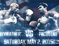 Mayweather vs. Pacquiao | Mock up promotional graphics