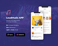 LoudMusic (Podcast) iOS/Web UI Kit (Figma / XD)