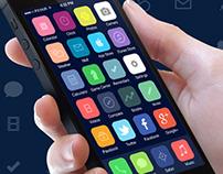 iOS 7 icons Redesign | Flat Design