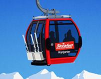 Skiwelt Area Poster