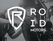 Roid Motors Logo design and Identity