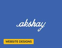 Personal Website Redesign + Codepen links