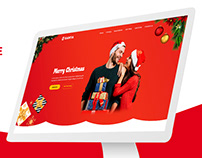 Christmas Landing Page PSD Template