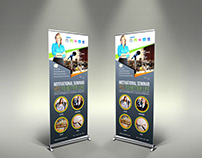 Seminar Signage Roll Up Banner Templates