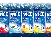 Illustrations for N'ICE Cough Lozenges