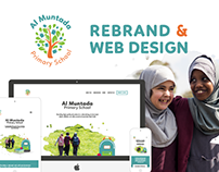 Al Muntada Primary School Rebrand & Web Design