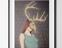 The Girl with the Deer skull