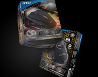 MSI gaming: gaming mouse package design