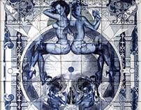 Handiedan Delfts Blue Ceramic Artwork