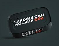 Sardine Can Mockup