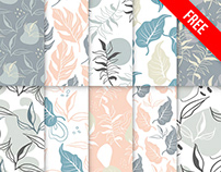 Free Floral Pattern Set in PSD