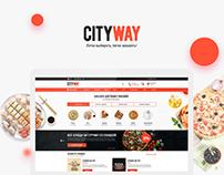 Дизайн сайта агрегатора и доставки товаров cityway.kz