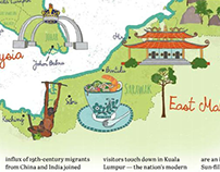 Illustrated Map of Malaysia for ABTA Magazine