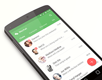 Wechat of Material Design Style
