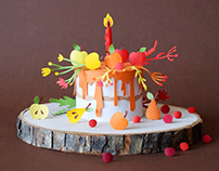 Birthday Cake | Paper art