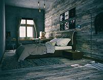Eskitme Yatak Odası