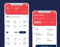 Flight Booking Form for Mobile UI