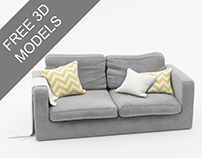 FREE 3D MODEL OF SOFA VRAY