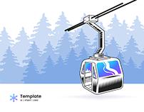 Ski-Book – Ski Booking Minimal Landing Page Template
