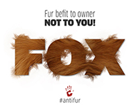 Anti Fur Posters Design