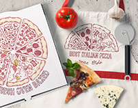Pizza branding illustrations