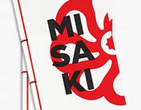 Misaki japanaese restaurant brand identity