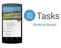 Tasks-Material design